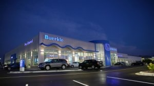 Buerkle Honda building in evening